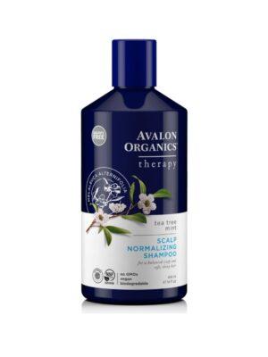 Θεραπευτικό Σαμπουάν Tea Tree Mint Therapy με Τεϊόδεντρο & Μέντα 414ml Avalon Organics