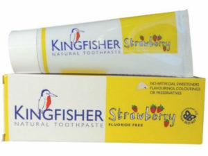 Kingfisher Natural – Παιδική Φυσική Οδοντόκρεμα Χωρίς Φθόριο, με Γεύση Φράουλα