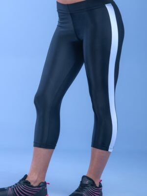 Black Cambel Capri Leggings Κολάν