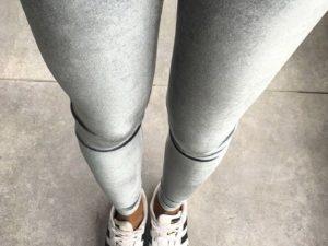 Bodymove Βελούδινο Κολάν Grey Velvet
