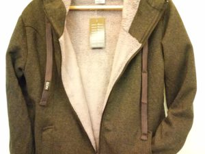 Body move wolf jacket Ανθρακι Unisex Με Εσωτερική Γούνα