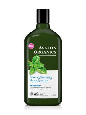 Σαμπουάν με Μέντα & Βιταμίνες για Εύθραυστα & Λεπτά Μαλλιά 325ml Avalon Organics