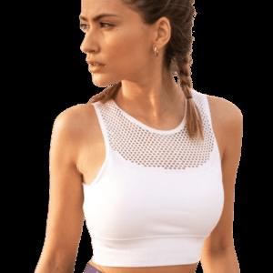 Αθλητικό Μπουστάκι Λευκό με Δίχτυ Superstacy