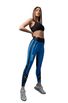 Κολάν Push Up Fit Blue Parallels Superstacy