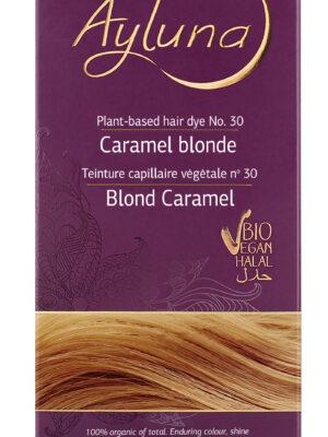 Ayluna-100-Βιολογική-Βαφή-Μαλλιών-Caramel-blonde-Nr30