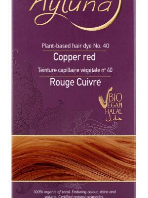 Ayluna 100% Βιολογική Βαφή Μαλλιών Copper red Nr40
