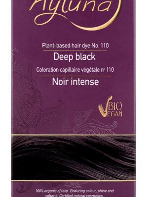 Ayluna-100-Βιολογική-Βαφή-Μαλλιών-Deep-black-Nr.110