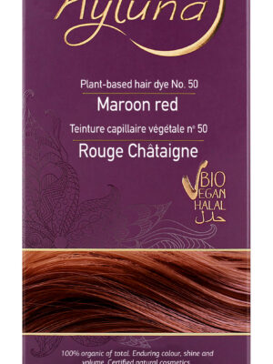Ayluna-100-Βιολογική-Βαφή-Μαλλιών-Maroon-red-Nr50