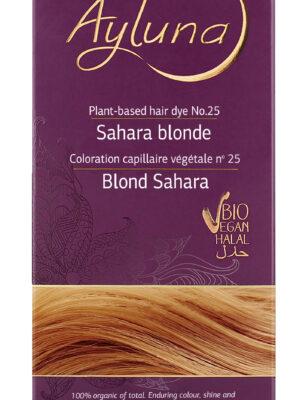 Ayluna-100-Βιολογική-Βαφή-Μαλλιών-Sahara-blonde-Nr25