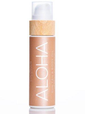 ALOHA Sun Tan Body Oil για Σοκολατένιο Μαύρισμα & Λάμψη Cocosolis Organic 110ml