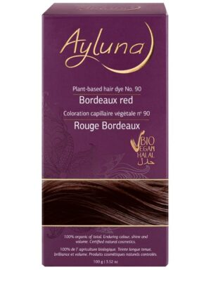 Ayluna 100% Βιολογική Βαφή Μαλλιών Bordeaux red Nr90