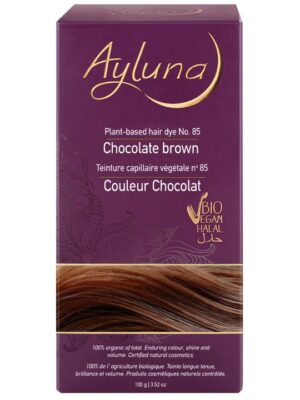 Ayluna 100% Βιολογική Βαφή Μαλλιών Chocolate Brown Nr85