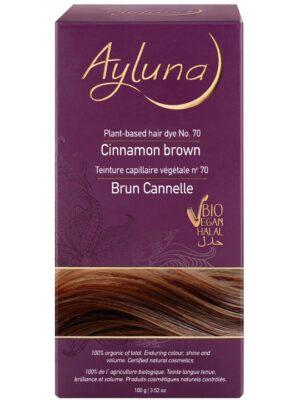 Ayluna 100% Βιολογική Βαφή Μαλλιών Cinnamon brown Nr70