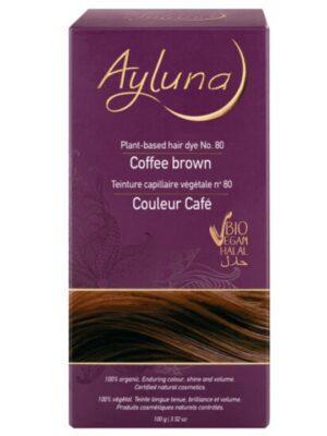 Ayluna 100% Βιολογική Βαφή Μαλλιών Coffee Brown Nr80