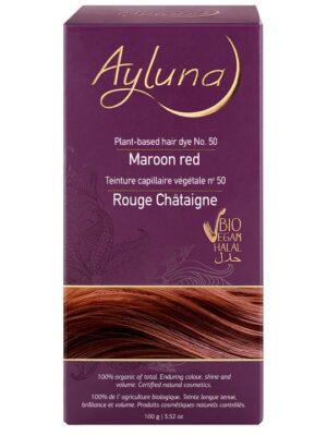 Ayluna 100% Βιολογική Βαφή Μαλλιών Maroon red Nr50