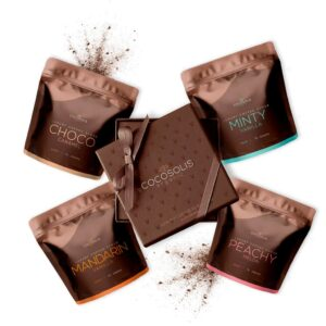 Luxury Coffee Scrub Box Cocosolis Organic 4 τμχ