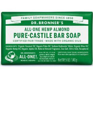 Αγνό-Σαπούνι-Καστιλλης-Σε-Μπάρα-Αμύγδαλο-Dr.Bronners.q