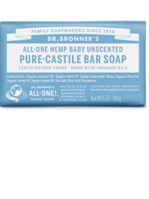 Αγνό-Σαπούνι-Σε-Μπάρα-Άοσμο-Για-Μωρά-Dr.Bronners