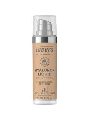 Υγρό Make-up με Υαλουρονικό οξύ Honey Sand 03 30ml Lavera