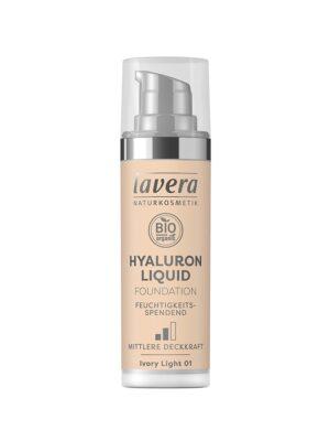 Υγρό Make-up με Υαλουρονικό οξύ Ivory Light 01 30ml Lavera