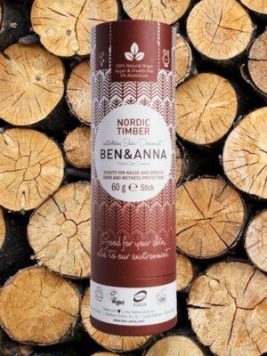 Φυσικό Αποσμητικό Stick Paper Tube Nordic Timber 60gr Ben & Anna Deodorants
