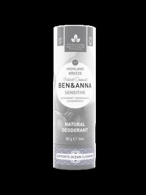 Φυσικό Αποσμητικό Stick Sensitive Highland Breeze 60gr Ben & Anna Deodorants