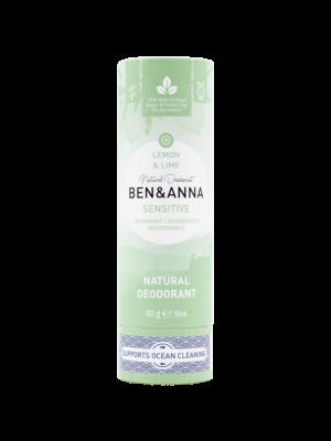 Φυσικό Αποσμητικό Stick Sensitive Lemon & Lime 60gr Ben & Anna Deodorants