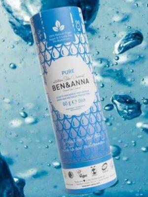 Φυσικό Αποσμητικό Stick Paper Tube Pure Χωρίς Άρωμα 60gr Ben & Anna Deodorants