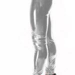 Bodymove Εφαρμοστό Γυναικείο Κολάν Βινύλ Ασημί