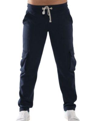 Bodymove Ανδρικό Παντελόνι Ισιο με Στρατιωτικές Τσέπες Μπλε