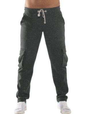 Bodymove Ανδρικό Παντελόνι Ισιο με Στρατιωτικές Τσέπες Γκρι