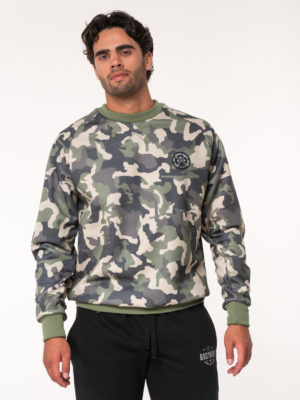 Bodymove Φαρδιά Μπλούζα Army Green Camouflage Man